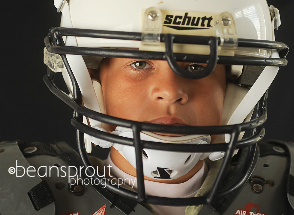 Football Sports Portraits | Suffolk Virginia Sportrait Photographer